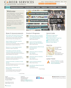 Princeton Career Services Homepage