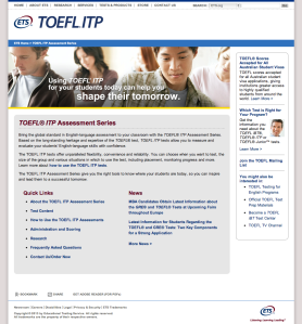 TOEFL ITP Website